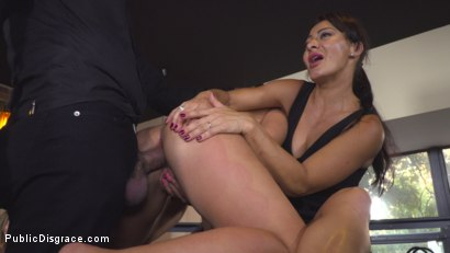 Photo number 37 from Nervous Newbie Naomi Gets Fucked in her Neighborhood shot for Public Disgrace on Kink.com. Featuring Steve Holmes, Sandra Romain, RAM and Naomi in hardcore BDSM & Fetish porn.