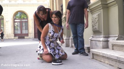 Photo number 6 from Nervous Newbie Naomi Gets Fucked in her Neighborhood shot for Public Disgrace on Kink.com. Featuring Steve Holmes, Sandra Romain, RAM and Naomi in hardcore BDSM & Fetish porn.