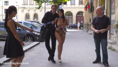 Photo number 10 from Nervous Newbie Naomi Gets Fucked in her Neighborhood shot for Public Disgrace on Kink.com. Featuring Steve Holmes, Sandra Romain, RAM and Naomi in hardcore BDSM & Fetish porn.