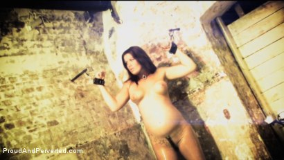 Photo number 2 from Preggo Playslut: Sajsa shot for Proud and Perverted on Kink.com. Featuring  in hardcore BDSM & Fetish porn.