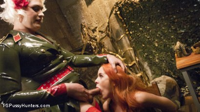 Photo number 3 from Pervert espionage Red head spy can't resist She-cock shot for TS Pussy Hunters on Kink.com. Featuring Isabella Sorrenti and Amarna Miller in hardcore BDSM & Fetish porn.