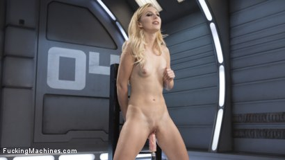 Photo number 12 from Petite Blonde Newcomer Fucks the Machines Like a Pro! shot for Fucking Machines on Kink.com. Featuring Alexa Grace in hardcore BDSM & Fetish porn.
