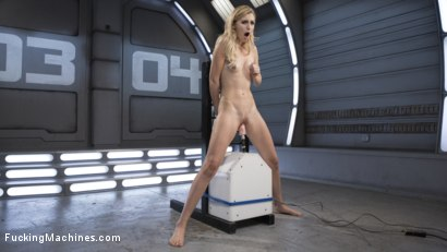 Photo number 5 from Petite Blonde Newcomer Fucks the Machines Like a Pro! shot for Fucking Machines on Kink.com. Featuring Alexa Grace in hardcore BDSM & Fetish porn.