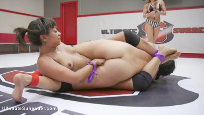 Photo number 5 from Wrestler Cums Against Her Will in 100% Competitive Erotic Sex Fight shot for Ultimate Surrender on Kink.com. Featuring Cali Confidential and Annie Cruz in hardcore BDSM & Fetish porn.