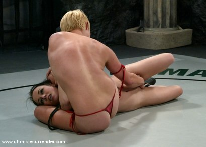 Photo number 7 from Vendetta (9-3) Ranked 2nd<br> The Badger (1-1)  Ranked 11th shot for Ultimate Surrender on Kink.com. Featuring Alexa Von Tess and Vendetta in hardcore BDSM & Fetish porn.