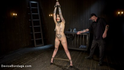 Photo number 1 from Breaking the New Girl - Leigh Raven shot for Device Bondage on Kink.com. Featuring Leigh Raven and The Pope in hardcore BDSM & Fetish porn.