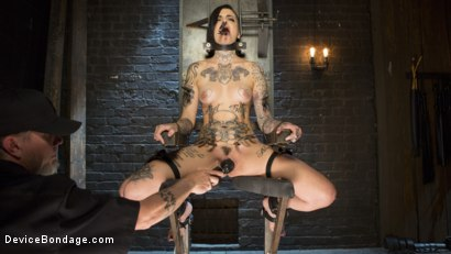 Photo number 2 from Breaking the New Girl - Leigh Raven shot for Device Bondage on Kink.com. Featuring Leigh Raven and The Pope in hardcore BDSM & Fetish porn.