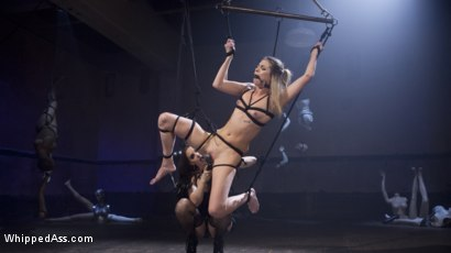 Photo number 5 from Aspen's Nightmare: Tough chick bound, beat, & anally strap-on fucked! shot for Whipped Ass on Kink.com. Featuring Chanel Preston and Aspen Ora in hardcore BDSM & Fetish porn.