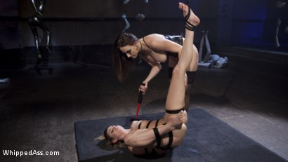 Photo number 7 from Aspen's Nightmare: Tough chick bound, beat, & anally strap-on fucked! shot for Whipped Ass on Kink.com. Featuring Chanel Preston and Aspen Ora in hardcore BDSM & Fetish porn.