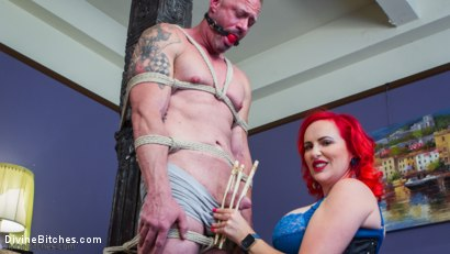 Photo number 2 from Hookers Revenge: Pegging, Humiliation and Enslavement shot for Divine Bitches on Kink.com. Featuring Mz Berlin and D. Arclyte in hardcore BDSM & Fetish porn.