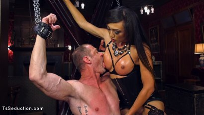 Photo number 11 from Huge Fat Load Of TS Cum For A Politician shot for TS Seduction on Kink.com. Featuring D. Arclyte and Venus Lux in hardcore BDSM & Fetish porn.