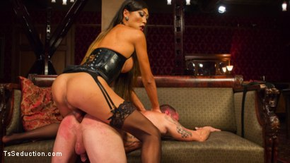 Photo number 13 from Huge Fat Load Of TS Cum For A Politician shot for TS Seduction on Kink.com. Featuring D. Arclyte and Venus Lux in hardcore BDSM & Fetish porn.