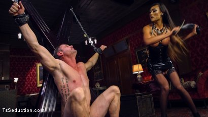 Photo number 16 from Huge Fat Load Of TS Cum For A Politician shot for TS Seduction on Kink.com. Featuring D. Arclyte and Venus Lux in hardcore BDSM & Fetish porn.