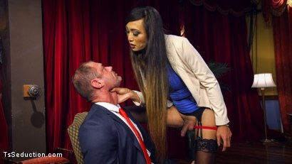 Photo number 17 from Huge Fat Load Of TS Cum For A Politician shot for TS Seduction on Kink.com. Featuring D. Arclyte and Venus Lux in hardcore BDSM & Fetish porn.