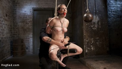 Photo number 11 from Casey Calvet Endures Brutal Bondage and Devastating Punishment shot for Hogtied on Kink.com. Featuring Casey Calvert  and The Pope in hardcore BDSM & Fetish porn.
