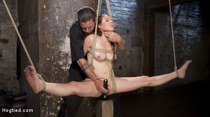 Photo number 13 from Casey Calvet Endures Brutal Bondage and Devastating Punishment shot for Hogtied on Kink.com. Featuring Casey Calvert  and The Pope in hardcore BDSM & Fetish porn.