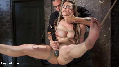 Photo number 14 from Casey Calvet Endures Brutal Bondage and Devastating Punishment shot for Hogtied on Kink.com. Featuring Casey Calvert  and The Pope in hardcore BDSM & Fetish porn.
