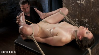 Photo number 12 from Casey Calvet Endures Brutal Bondage and Devastating Punishment shot for Hogtied on Kink.com. Featuring Casey Calvert  and The Pope in hardcore BDSM & Fetish porn.
