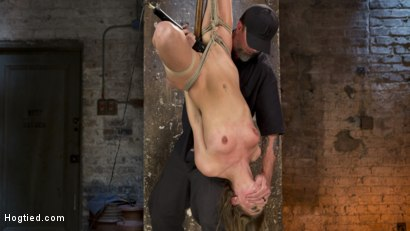 Photo number 12 from Hot Petite Blonde Surrender to Devastating Bondage and Torment shot for Hogtied on Kink.com. Featuring Sydney Cole and The Pope in hardcore BDSM & Fetish porn.