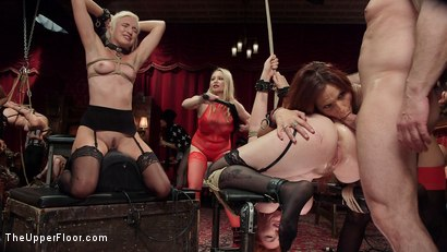 Photo number 14 from Fantastically Fevered Folsom Orgy shot for The Upper Floor on Kink.com. Featuring Syren de Mer, John Strong, Eliza Jane , Aiden Starr and Lauren Phillips in hardcore BDSM & Fetish porn.