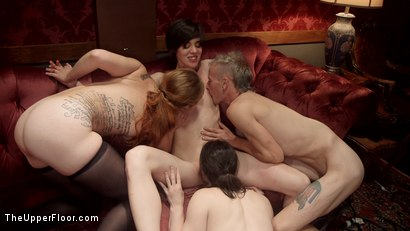 Photo number 9 from Fantastically Fevered Folsom Orgy shot for The Upper Floor on Kink.com. Featuring Syren de Mer, John Strong, Eliza Jane , Aiden Starr and Lauren Phillips in hardcore BDSM & Fetish porn.
