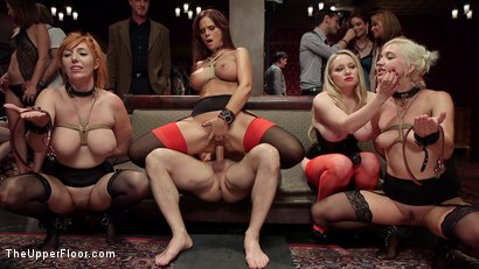 Photo number 4 from The Fantastic Fucking Folsom Orgy Pt. 2 shot for The Upper Floor on Kink.com. Featuring Syren de Mer, John Strong, Eliza Jane , Aiden Starr and Lauren Phillips in hardcore BDSM & Fetish porn.