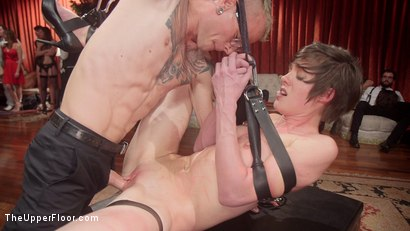 Photo number 6 from The Fantastic Fucking Folsom Orgy Pt. 2 shot for The Upper Floor on Kink.com. Featuring Syren de Mer, John Strong, Eliza Jane , Aiden Starr and Lauren Phillips in hardcore BDSM & Fetish porn.