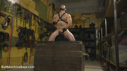 Photo number 8 from House dom takes his first machine deep in his hairy hole! shot for Butt Machine Boys on Kink.com. Featuring Jaxton Wheeler in hardcore BDSM & Fetish porn.