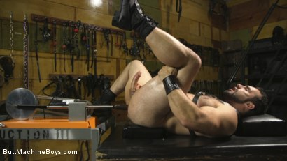 Photo number 13 from House dom takes his first machine deep in his hairy hole! shot for Butt Machine Boys on Kink.com. Featuring Jaxton Wheeler in hardcore BDSM & Fetish porn.