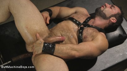 Photo number 14 from House dom takes his first machine deep in his hairy hole! shot for Butt Machine Boys on Kink.com. Featuring Jaxton Wheeler in hardcore BDSM & Fetish porn.