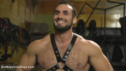 Photo number 15 from House dom takes his first machine deep in his hairy hole! shot for Butt Machine Boys on Kink.com. Featuring Jaxton Wheeler in hardcore BDSM & Fetish porn.