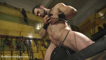 Photo number 7 from House dom takes his first machine deep in his hairy hole! shot for Butt Machine Boys on Kink.com. Featuring Jaxton Wheeler in hardcore BDSM & Fetish porn.