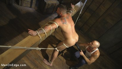 Photo number 11 from Bound Beefcake Gets Edged to the Max! shot for Men On Edge on Kink.com. Featuring Hugh Hunter in hardcore BDSM & Fetish porn.
