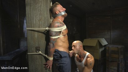 Photo number 4 from Bound Beefcake Gets Edged to the Max! shot for Men On Edge on Kink.com. Featuring Hugh Hunter in hardcore BDSM & Fetish porn.