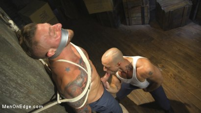 Photo number 5 from Bound Beefcake Gets Edged to the Max! shot for Men On Edge on Kink.com. Featuring Hugh Hunter in hardcore BDSM & Fetish porn.