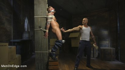 Bound Beefcake Gets Edged to the Max!