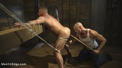 Photo number 10 from Bound Beefcake Gets Edged to the Max! shot for Men On Edge on Kink.com. Featuring Hugh Hunter in hardcore BDSM & Fetish porn.