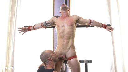 Photo number 2 from Muscular Straight Boy Edged in Bondage! shot for Men On Edge on Kink.com. Featuring Jason Styles in hardcore BDSM & Fetish porn.