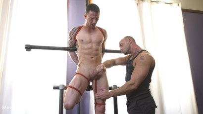 Photo number 5 from Muscular Straight Boy Edged in Bondage! shot for Men On Edge on Kink.com. Featuring Jason Styles in hardcore BDSM & Fetish porn.