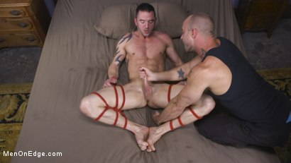 Muscular Straight Boy Edged in Bondage!