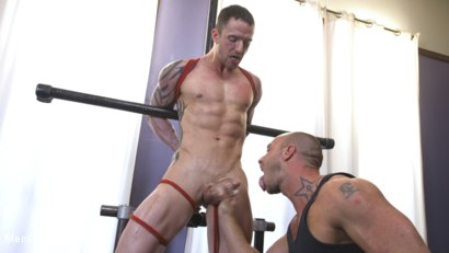 Photo number 7 from Muscular Straight Boy Edged in Bondage! shot for Men On Edge on Kink.com. Featuring Jason Styles in hardcore BDSM & Fetish porn.