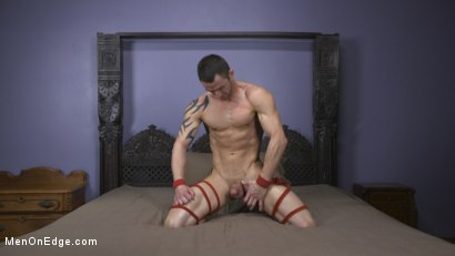 Photo number 8 from Muscular Straight Boy Edged in Bondage! shot for Men On Edge on Kink.com. Featuring Jason Styles in hardcore BDSM & Fetish porn.