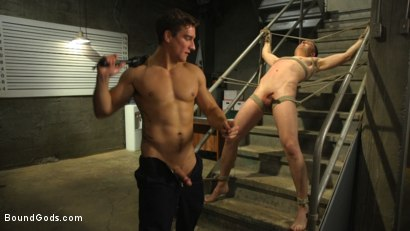 Photo number 9 from Officer Boss is THE BOSS! shot for Bound Gods on Kink.com. Featuring Jordan Boss and Tyler Rush in hardcore BDSM & Fetish porn.