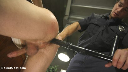Photo number 6 from Officer Boss is THE BOSS! shot for Bound Gods on Kink.com. Featuring Jordan Boss and Tyler Rush in hardcore BDSM & Fetish porn.
