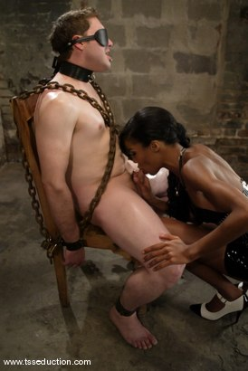 Photo number 4 from Kriss and Mistress Soleli shot for TS Seduction on Kink.com. Featuring Mistress Soleli and Kriss in hardcore BDSM & Fetish porn.