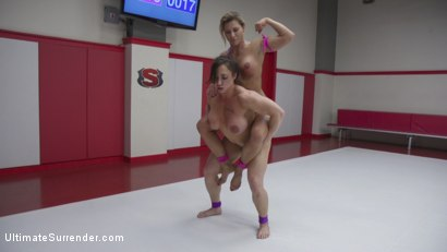 Photo number 9 from Beautiful muscle Goddesses battle in a sex fight. Muscles CUM hard shot for Ultimate Surrender on Kink.com. Featuring Ariel X and Brandi Mae in hardcore BDSM & Fetish porn.