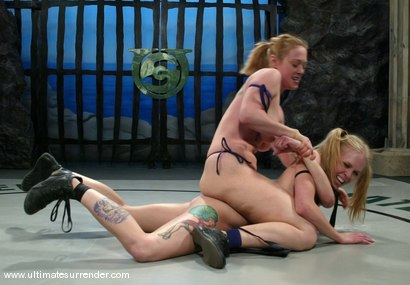Photo number 2 from The Grappler (5-4) Ranked 4th <br>londie (0-0) Not ranked shot for Ultimate Surrender on Kink.com. Featuring Dee Williams and Sarah Jane Ceylon in hardcore BDSM & Fetish porn.