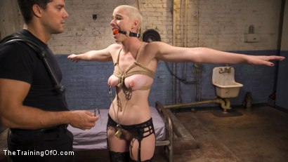 Photo number 1 from Slave Training Gorgeous Newbie: Riley Nixon shot for The Training Of O on Kink.com. Featuring Ramon Nomar and Riley Nixon in hardcore BDSM & Fetish porn.