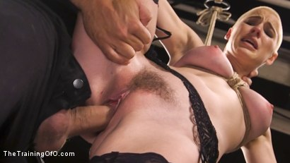 Photo number 4 from Slave Training Gorgeous Newbie: Riley Nixon shot for The Training Of O on Kink.com. Featuring Ramon Nomar and Riley Nixon in hardcore BDSM & Fetish porn.