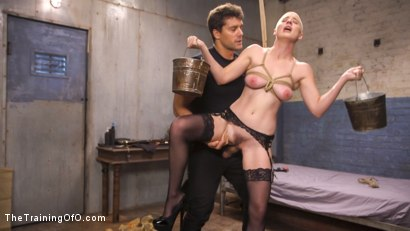 Photo number 6 from Slave Training Gorgeous Newbie: Riley Nixon shot for The Training Of O on Kink.com. Featuring Ramon Nomar and Riley Nixon in hardcore BDSM & Fetish porn.